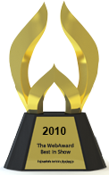 Web Award trophy