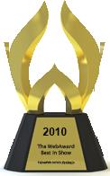 Web Award trophy