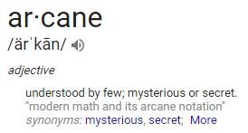 google arcane pronunciation